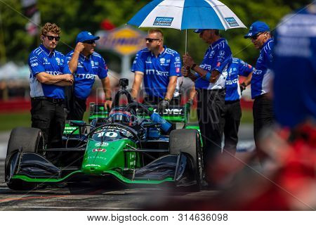 July 27, 2019 - Lexington, Ohio, USA: FELIX ROSENQVIST (10) of Sweden  prepares to qualify for the Honda Indy 200 at Mid Ohio at Mid-Ohio Sports Car Course in Lexington, Ohio.
