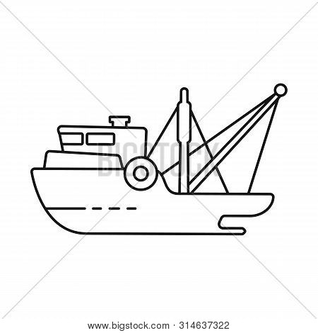 Isolated Object Of Ship And Travel Symbol. Collection Of Ship And Naval Stock Vector Illustration.