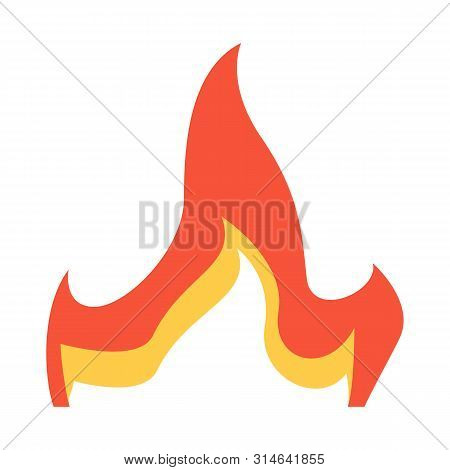 Vector Design Of Flare And Orange Sign. Set Of Flare And Ignite Vector Icon For Stock.