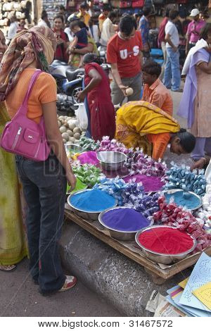 Shopping for Holi