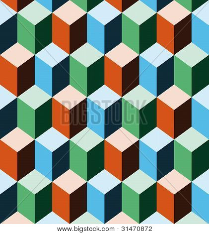 Seamless Background Imitating Three Dimensional Cubes