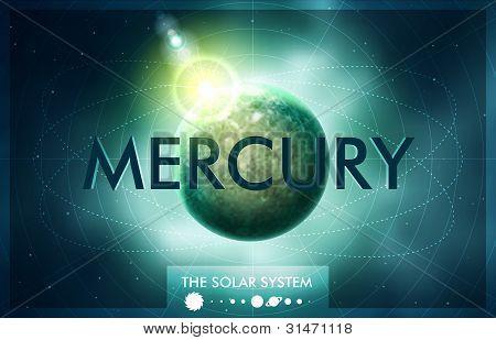 Vector Solar System - Planet Mercury