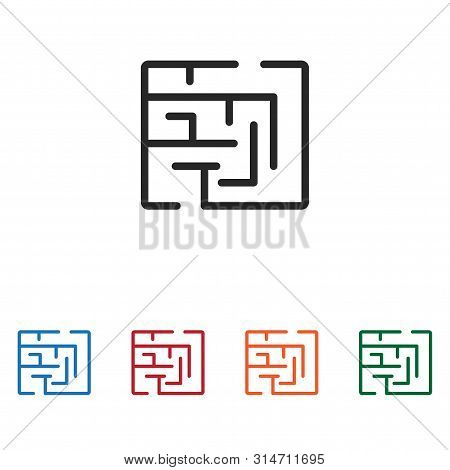 Maze Icon Isolated On White Background. Maze Icon In Trendy Design Style. Maze Vector Icon Modern An