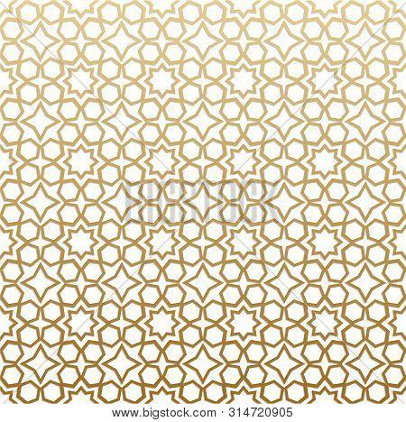 Seamless Geometric Pattern. Islamic Pattern. Arabic, East Ornament, Indian Ornament, Persian Motif,
