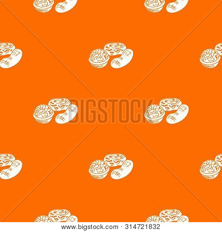 Nuts Pattern Vector Orange For Any Web Design Best