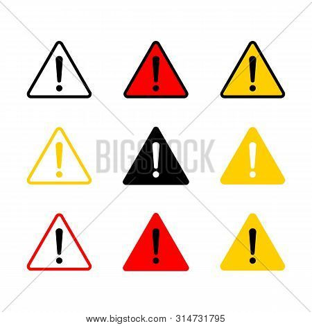 Caution Icon With Triangle Form. Danger Sign, Attention Sign. Caution Warning Icon.triangle Warning