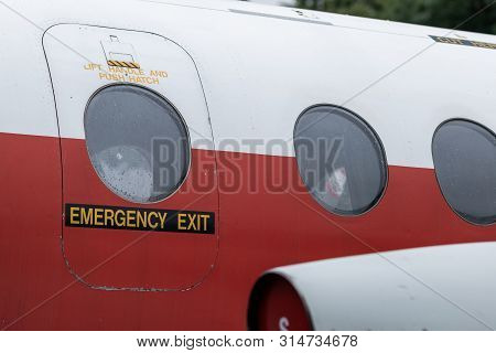 Doncaster, Uk - 28th July 2019: Close Up Shot Of The Handley Page Jetstream Passenger Plane On Displ