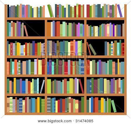 Isolated Bookshelf