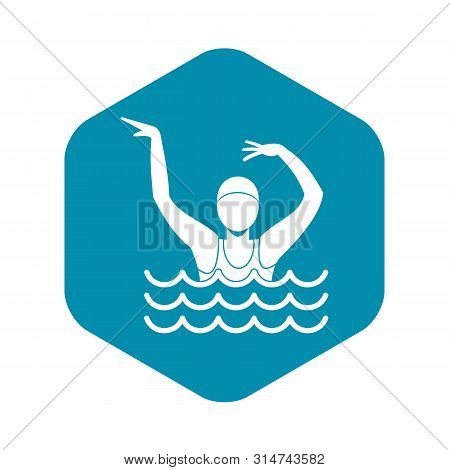 Swimmer In A Swimming Pool Icon. Simple Illustration Of Swimmer In A Swimming Pool Vector Icon For W