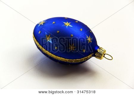 A decorated egg ornament