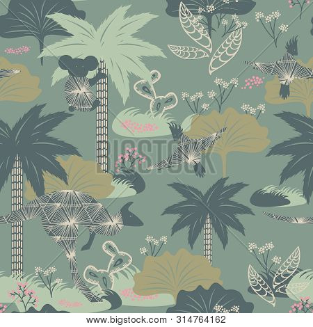 Australia Pattern Seamless Design. Decoration Textile And Paper Series