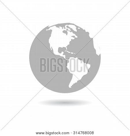 Earth Globe Icon Isolated On White Background. Earth Globe Icon Simple Sign. Earth Globe Icon Trendy