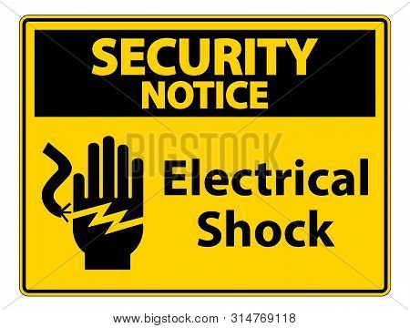 Electrical Shock Electrocution Symbol Sign, Vector Illustration, Isolate On White Background Label .