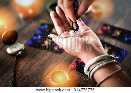 Fortune Teller Reading Fortune Lines On Hand Palmistry Psychic Readings And Clairvoyance Hands Conce