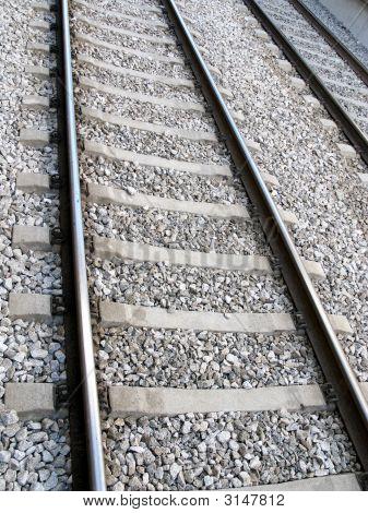 Close Up Of Railway Tracks