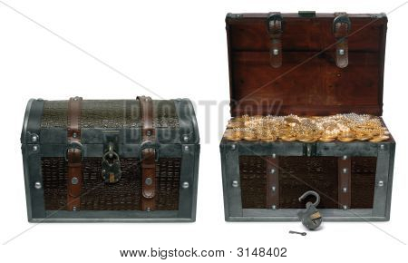 Closed And Open Treasure Chests