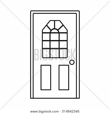 Vector Design Of Door And Doorway Symbol. Collection Of Door And Frame Stock Vector Illustration.