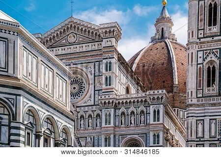 Florence Duomo, Italy. Santa Maria Del Fiore Cathedral (basilica Of Saint Mary Of The Flower). City