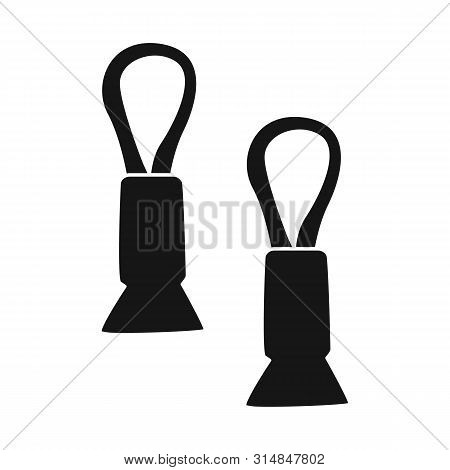 Vector Design Of Peg And Clothespin Logo. Set Of Peg And Clamp Stock Vector Illustration.