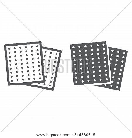 Matza Line And Glyph Icon, Food And Israel, Jewish Bread Sign, Vector Graphics, A Linear Pattern On