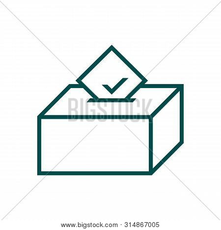 Voting Box Icon Isolated On White Background From Voting Elections Collection. Voting Box Icon Trend