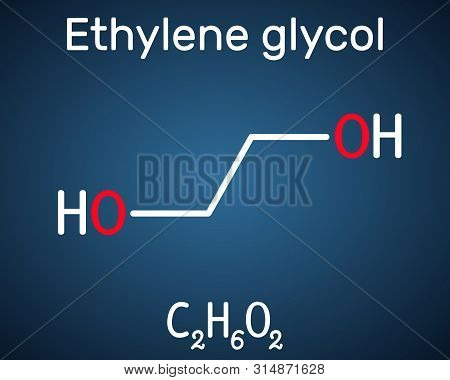 Ethylene Glycol, Diol Molecule. It Is Used For Manufacture Of Polyester Fibers And For Antifreeze Fo