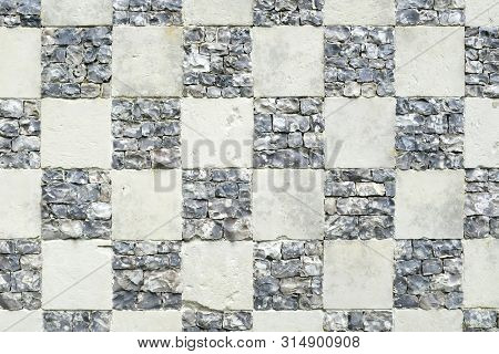 Old Checkerboard Background Or Checkered Pattern Texture