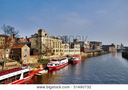 Boating On The River Ouse In York