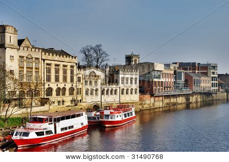 Ferry Boats On River Ouse, York