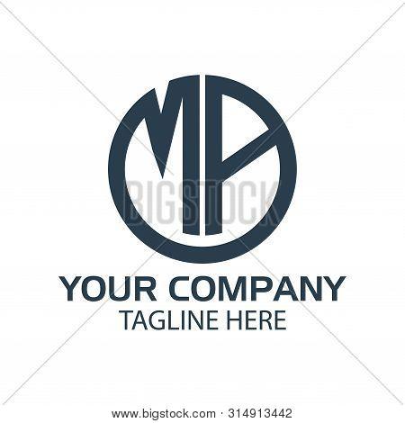 Letter Ma Stock Logo, Ma Initial., Flat Design. Technology Logo