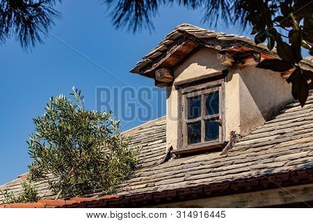 Window On The Roof Of The Monastery Of Mount Athos