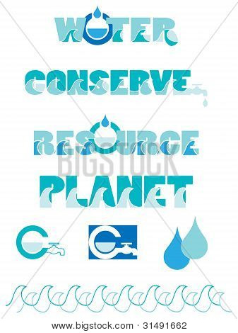 Water conservation graphics