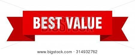 Best Value Ribbon. Best Value Isolated Sign. Best Value Banner