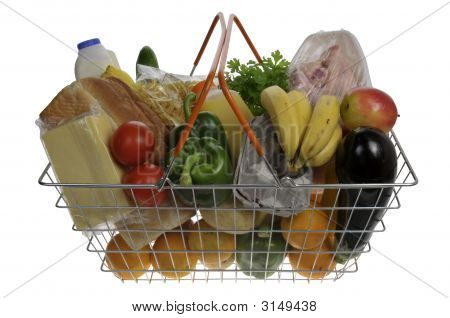 Groceries In A Basket