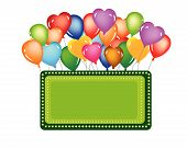 events balloon for celebration happy birthday or shop open poster