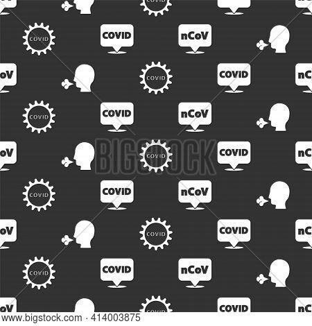 Set Corona Virus 2019-ncov On Location, Man Coughing, Corona Virus Covid-19 And Corona Virus Covid-1