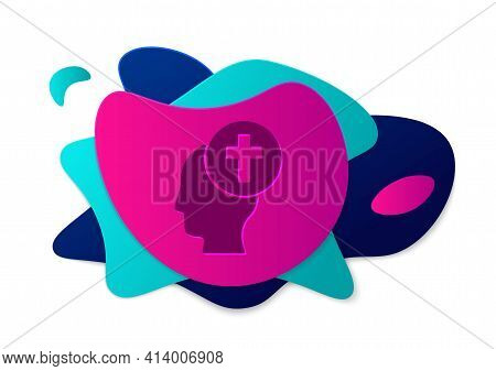 Color Man Graves Funeral Sorrow Icon Isolated On White Background. The Emotion Of Grief, Sadness, So