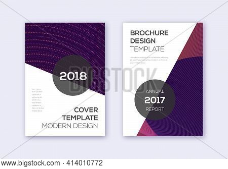 Modern Cover Design Template Set. Violet Abstract