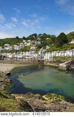 Polperro Cornwall Most Beautiful Harbour In England Uk In Summer