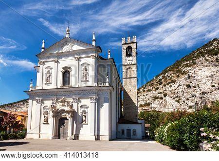 The church of Sts. Peter and Paul in Virle Treponti (Parrocchia dei Santi Pietro e Paolo) in Rezzato, Brescia, Lombardy, Northern Italy