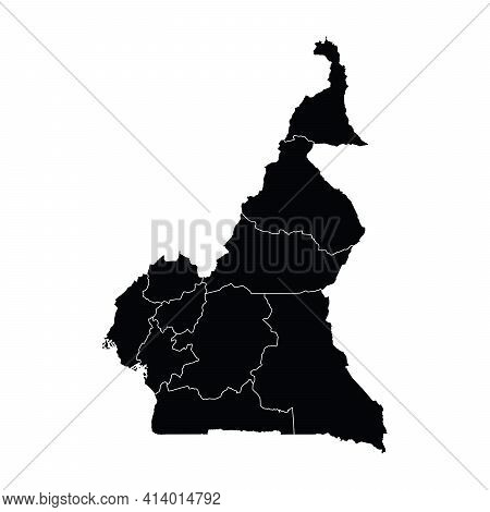 Cameroon Country Map Vector With Regional Areas