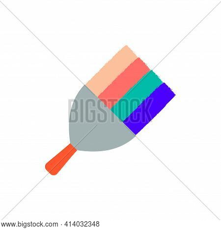 Spatula Putty Knife. Renovation Symbol. Home Repair, Finishing Works. Vector Illustration Isolated O