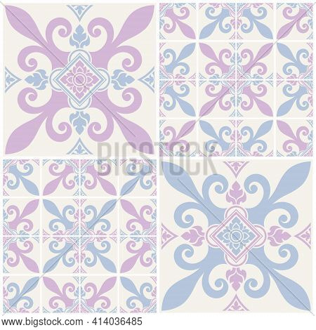 Abstract Background Applied Thai Art Style. Seamless Decorative Patterns For Cards, Banner, Brochure