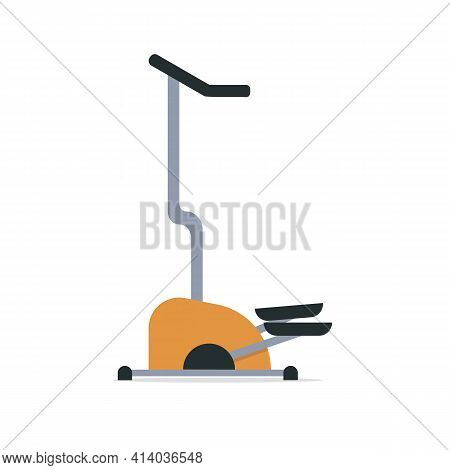 Modern Exercise Machine For Walking, Cardio, Leg Muscles, Endurance, Isolated On White Background. S