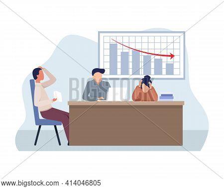 Business Collapse Illustration