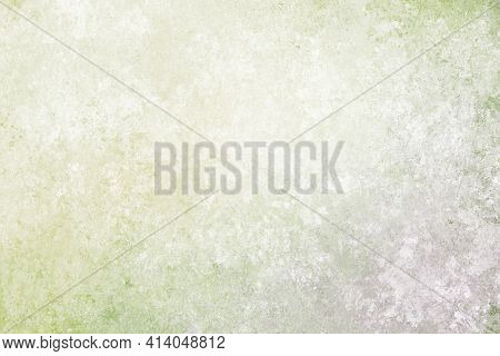 Gray White Olive Green Antique Old Background With Blur, Gradient And Watercolor Texture. Space For
