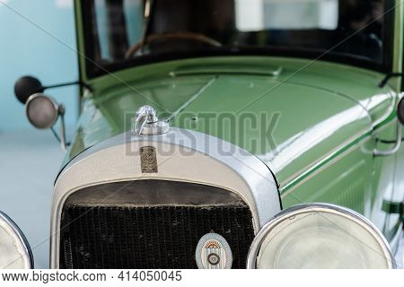 Moscow. Russia. February 2020. Exhibition Of Retro Cars. An Old Willys Overland 96a Car From 1929