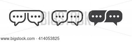 Speech Bubble Vector Icons. Communication Chatting Sign.