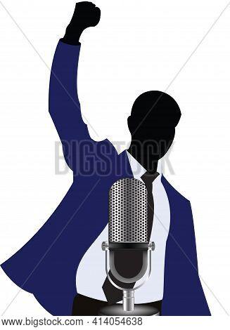 Person Exults Microphone Person Exults Microphone Person Exults Microphone Person Exults Microphone