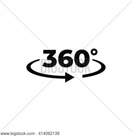 Angle 360 Degrees Icon Isolated On White Background. Angle 360 Degrees Icon In Trendy Design Style.
